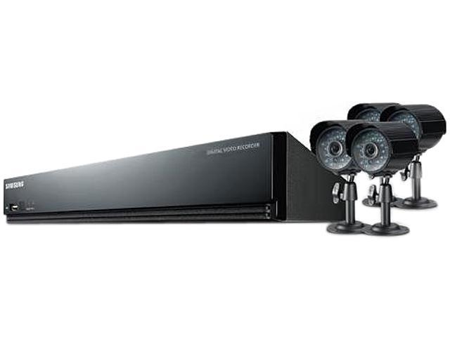 SAMSUNG SDE-3004 4 Channel 4Channel H.264 DVR with 4 Outdoor Ready IR Cameras