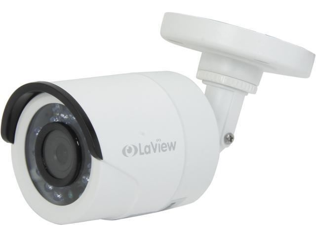 LaView LV-CBA3213 HD 1.3 MP Sensor 1000 TVL Analog Infrared Day/Night Outdoor Surveillance Camera (White)