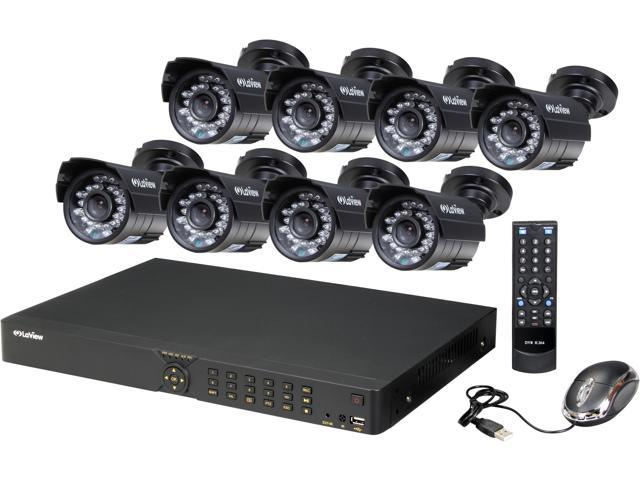 LaView LV-KD3488D-T1 Complete 8 CH HDMI Security DVR System w/ 1TB HDD Easy DIY Eight 600TVL Infrared Surveillance Cameras