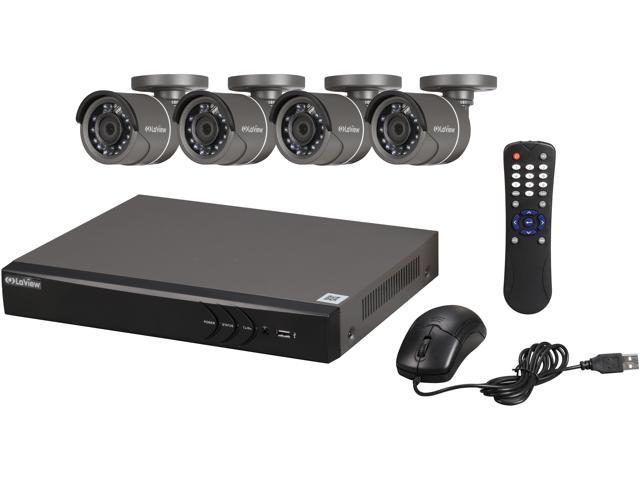 Laview Lv Kh944ft4a8 Premium 1080p 720p Hd Dvr 4 Channel Tvi Security System W 4 Hd 720p