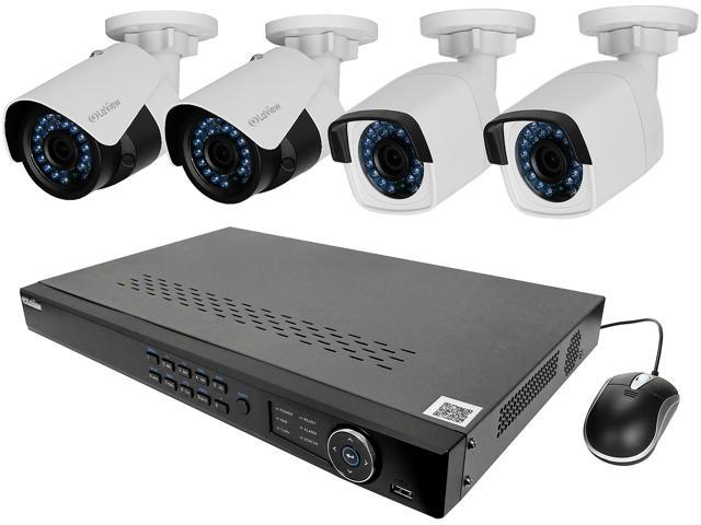 LaView LV-KNT982A42W4 4MP zoom HD 8 Channel NVR PoE IP Security System, with 2pcs 4MP (2688 x 1520p) and 2pcs 2MP (1920 x 1080p) Bullet Camera (No HDD Included)