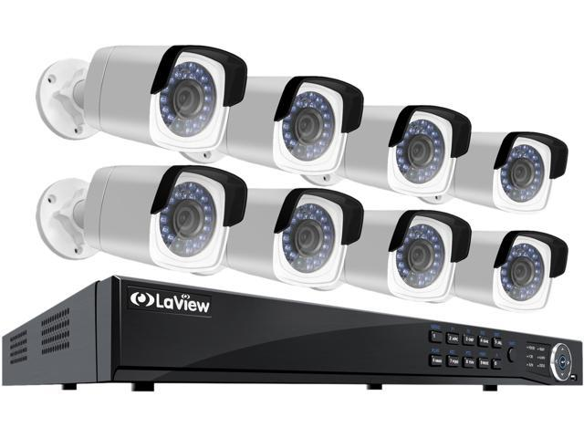 LaView 4MP 2688 x 1520P Full PoE IP Camera Security System, 8 Channel H.265 NVR w/ 4K Output, 8 x 4MP Full HD (2688 x 1520) In/Outdoor IP Cameras (No HDD Included)