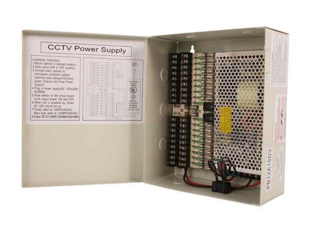 Aposonic A-XPOWERBOX 12V CCTV Power Supply for Surveillance Cameras