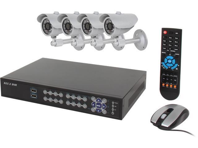 Aposonic A-BR18B4-C 8 Channel Surveillance DVR Kit
