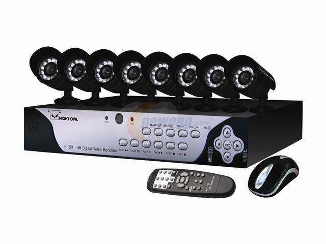 Night Owl H.264 Internet & 3G Phone Accessible 8 channel DVR w/ 8 Night Vision Cameras & 500GB HD (Falcon-8500)