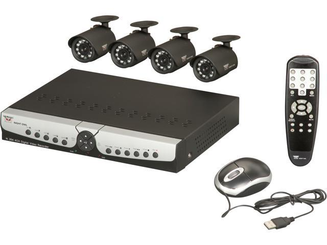 Night Owl Apollo-45 4 Channel H.264 DVR D1 Kit with 500GB HD, 4 Cameras