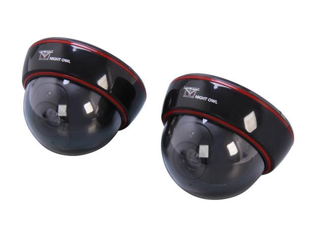 Night Owl DUM-DOME-2B Decoy Dome Camera with Flashing LED Light (2-Pack)