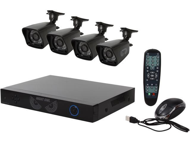 Night Owl B-PE4-47 4 Channel PRO 960H DVR, Smart Device Remote Playback/Viewing, 4 x 700TVL Bullet Camera (No HDD Included)