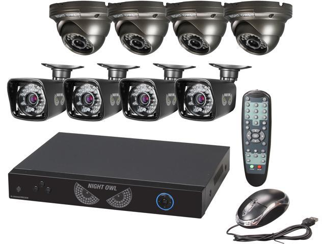 Night Owl B-PE16-47-4DM7 16 Channel PRO 960H DVR, Smart Device Remote Playback/Viewing, 8 x 700 TVL Bullet/Dome Cameras - ...