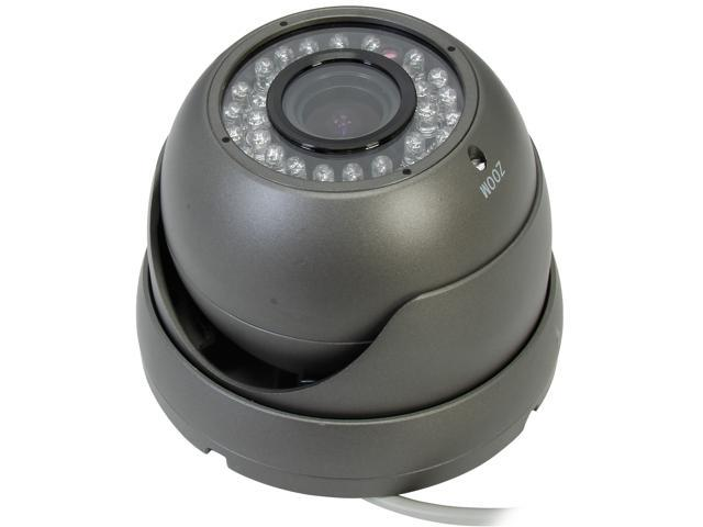 LTS CMT2070B 700TVL SONY 960H CCD 2.8~12MM VARIFOCAL LENs NIGHT VISION COLOR DOME CAMERA - CHARCOAL GRAY