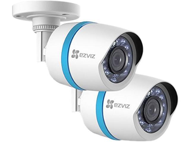 EZVIZ 1080p IP PoE Bullet Camera 2-Pack for Home Security System with 100 ft. Network Cable (BC-122A)