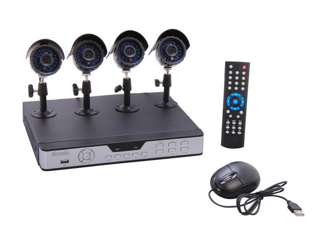 Zmodo KDS8-NARQZ4ZN 8CH H.264 DVR w/ 4 x Sony CCD Day/Night Outdoor Cameras 3G Mobile Access Surveillance Kit