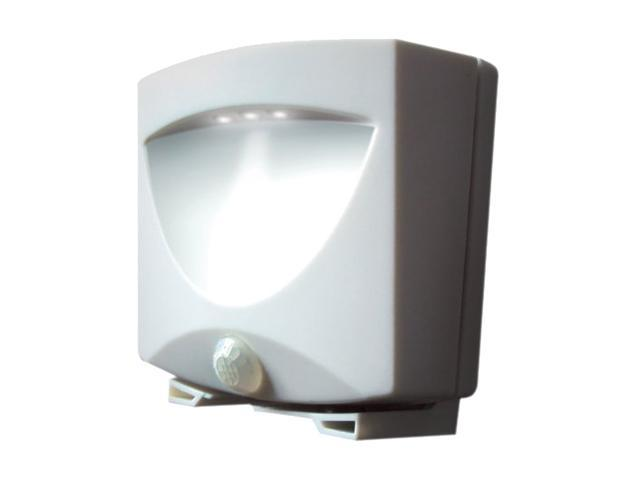 Maxsa 40341 Battery Powered Motion Activated Outdoor Night Light -white
