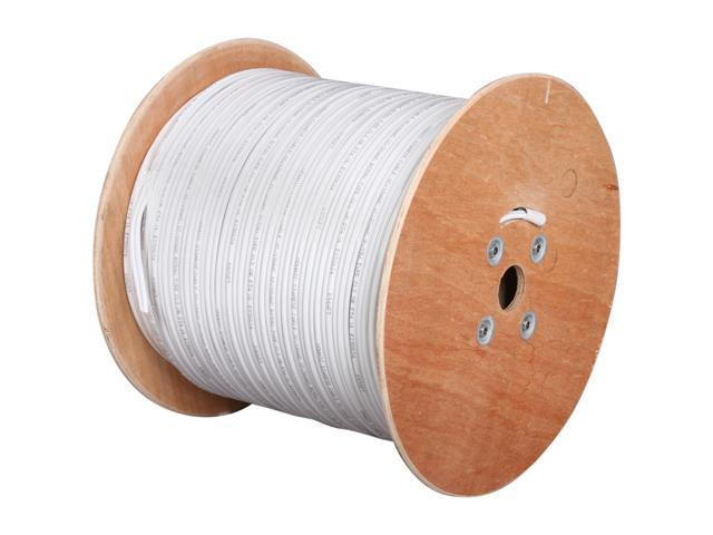 Vonnic CB1000W 1000 ft. Bulk Siamese Cable - UL Listed, White