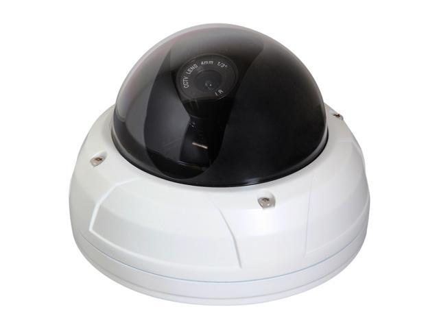 Vonnic VCD510W 480 TV Lines MAX Resolution Outdoor Day/Night Dome Camera - White