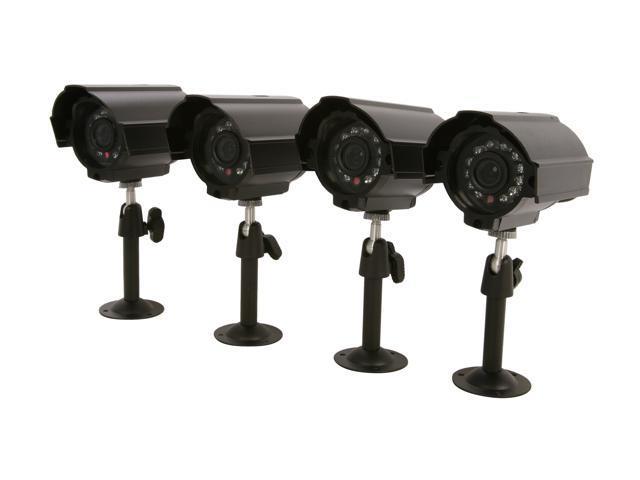 Vonnic VCB4PKD 480 TV Lines MAX Resolution 4-Pack Outdoor Night Vision Bullet Camera