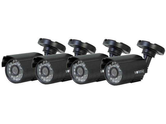 Vonnic VCB4PKD101B5 540 TV Lines MAX Resolution Outdoor Night Vision Bullet Camera Pack