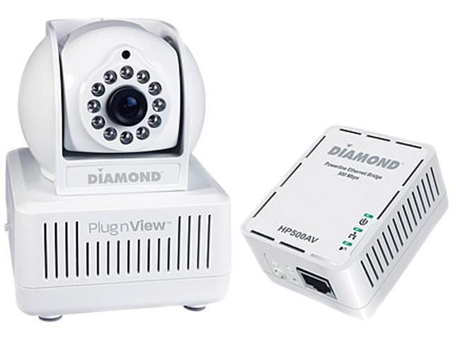 Diamond Multimedia HP500CKP PlugnView Remote Pet Monitoring Internet Night Vision Security Camera kit