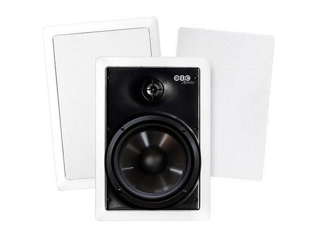 "BIC America M-PRO6W Weather-Resistant 150W 2-Way 6.5"" In-Wall Speaker Pair"