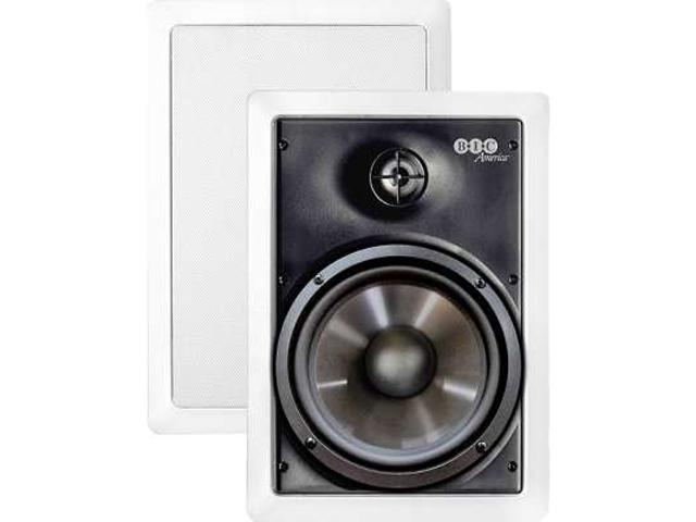 "BIC America M-PRO6W 6.5"" Weather-Resistant In-wall Speaker, Pair"