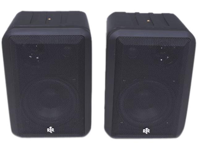 BIC America RtR V44-2 Shielded Indoor/Outdoor Speakers, Pair, Black