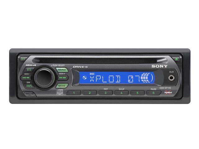 SONY Black In-Dash Car CD Receiver Model CDX-GT110
