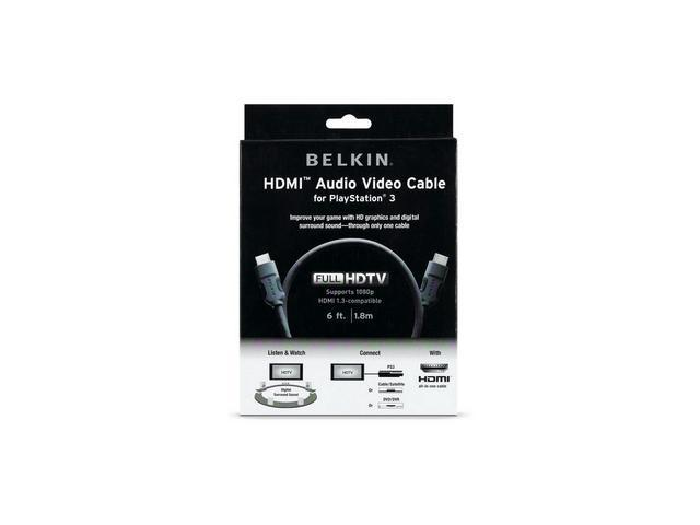 Belkin AM22302-06-SN 6 ft. Black Connector on First End: HDMI Connector on Second End: HDMI HDMI to HDMI Audio/Video Cable