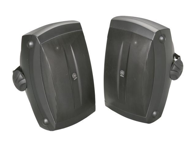 YAMAHA NSAW350B 2 CH All Weather Speakers w/ Wide Frequency, Black Color Pair