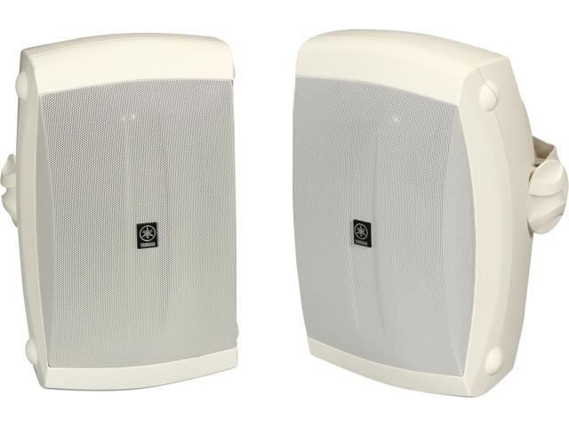 YAMAHA NSAW350W 2-Way White All Weather Wide Frequency Response Speakers Pair