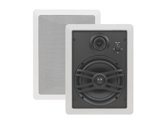 YAMAHA NSIW470WH 3-Way In-Wall Speakers with Swivel Midrange and Tweeter Pair