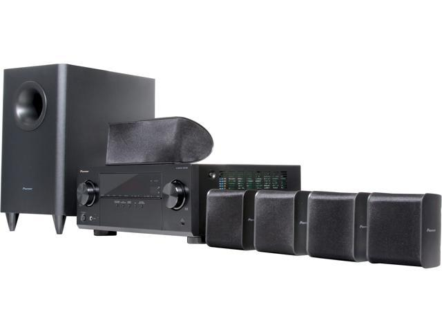 Pioneer HTP-072 5.1 Channel Home Theater Package with 3D AV Receiver, Subwoofer and Satellite Speakers