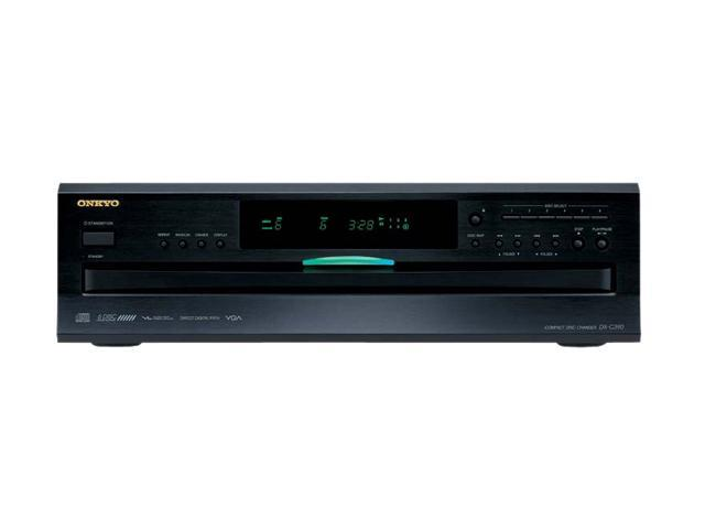 ONKYO DXC390 6-Disc Carousel Changer CD Player, Black