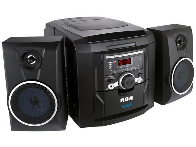 RCA 5-Disc Changer Mini Audio System RS22162S