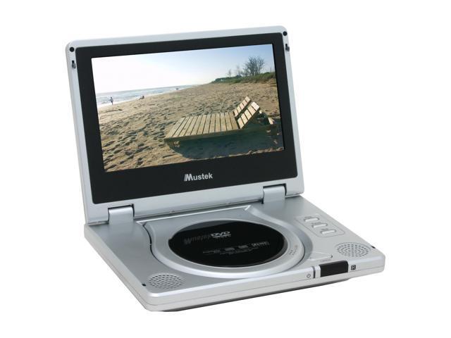 """Mustek PL608 Portable DVD Player w/ 8"""" 16:9 LCD"""