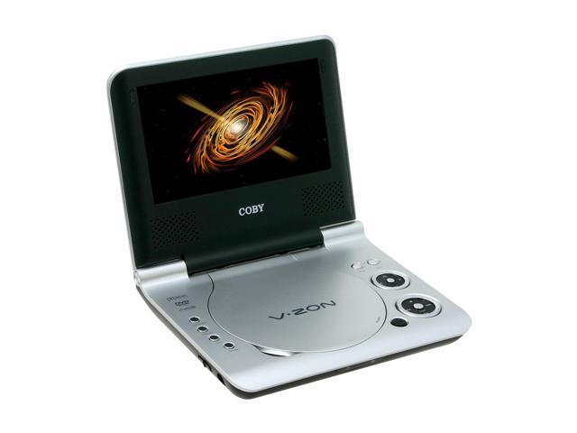 "COBY V-ZON 7"" WIDESCREEN PORTABLE DVD PLAYER"