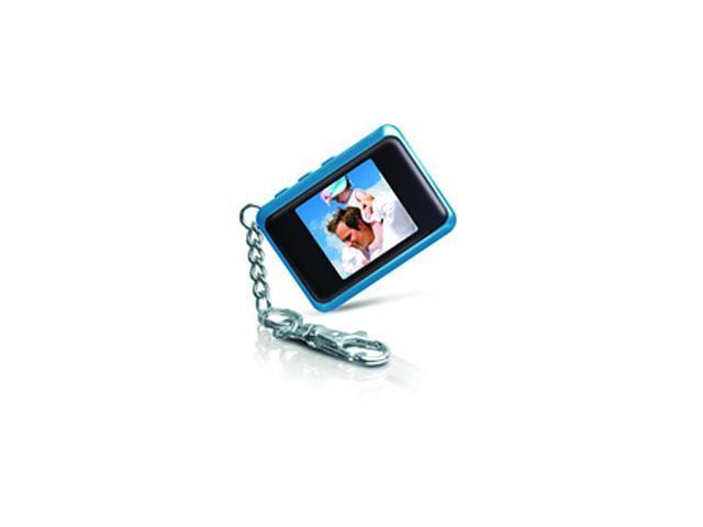 "COBY DP151 1.44"" 128x128 Digital Photo Keychain - Blue"