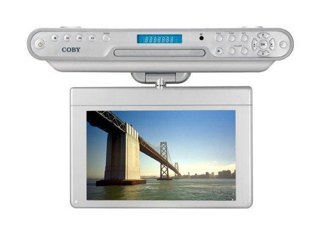 "COBY KTFDVD1093 10.2"" Under-the-Cabinet DVD/CD Player with ATSC Digital TV Tuner"