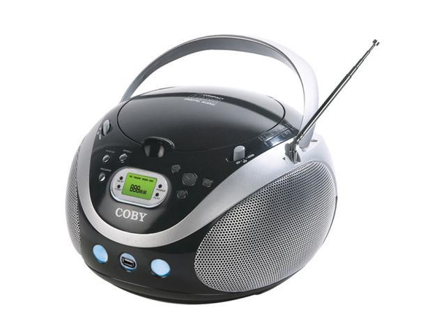 coby portable mp3 cd stereo with am fm radio and usb port mpcd471. Black Bedroom Furniture Sets. Home Design Ideas