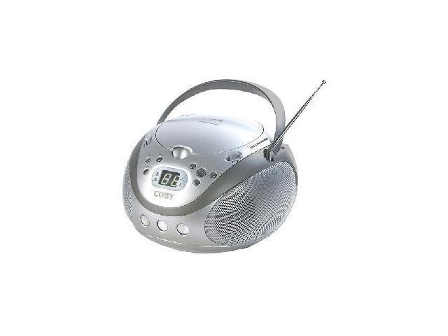 COBY Portable CD Player with AM/FM Stereo Tuner                                                          CX-CD241SLV