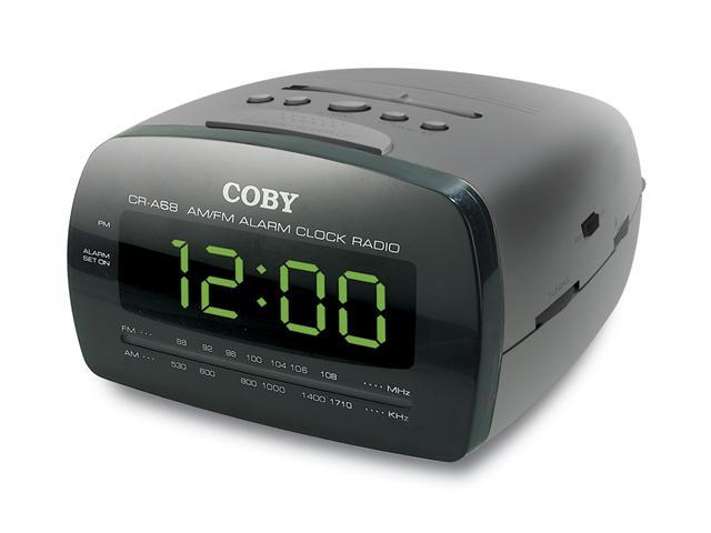 COBY Digital AM/FM Dual Alarm/Clock Radio, Black CRA68