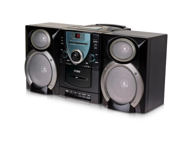 COBY CD/Cassette/Radio 1-Disc Changer Mini Audio System CXCD400BLACK