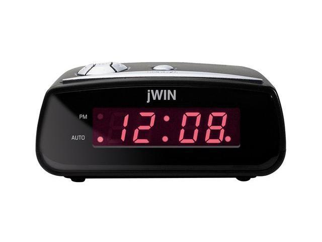 jWIN JL106BLK Compact Digital Alarm Clock