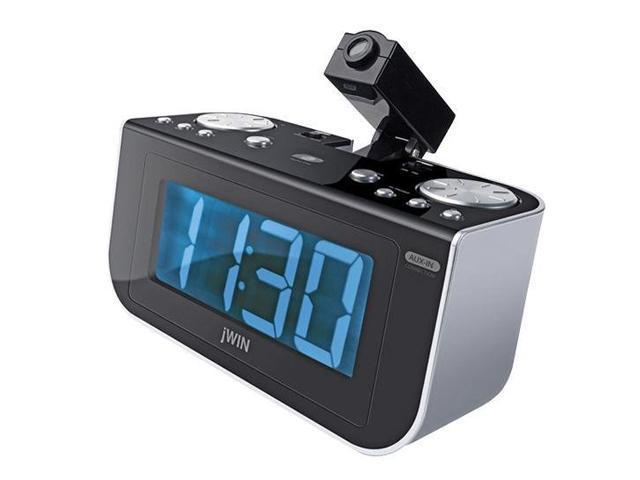 jwin projection digital alarm clock with am fm radio jl360. Black Bedroom Furniture Sets. Home Design Ideas