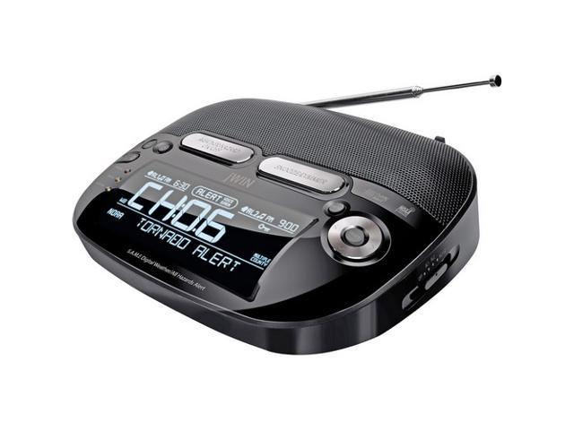 jwin weatherband radio with am fm and dual alarm clock jxm133. Black Bedroom Furniture Sets. Home Design Ideas