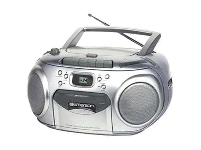 Emerson Radio/CD/Cassette Player/Recorder Boombox PD6548SL