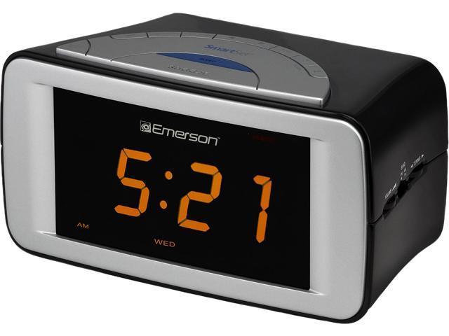 refurbished emerson smartset dual alarm clock radio cks9051. Black Bedroom Furniture Sets. Home Design Ideas