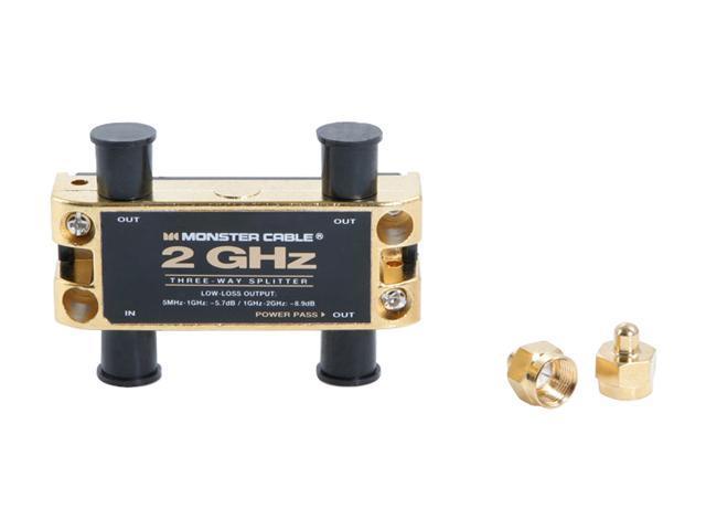 Monster - 2 GHz Low-Loss RF splitters for TV & Satellite MKII