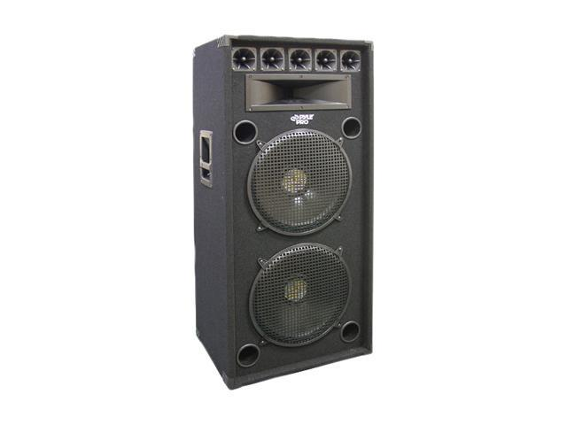 "PYLE PADH152 1200 Watt Dual 15"" 8-Way Stage Speaker Cabinet Single"