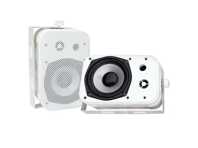 "PYLE PD-WR40W 2 CH 5.25"" Indoor/Outdoor Waterproof Speakers (White) Pair"