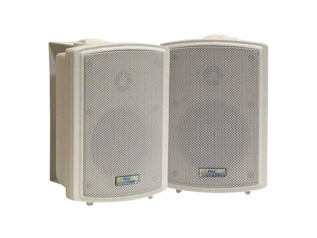 "PYLE PD-WR3T 2 CH 3.5"" Indoor/Outdoor Waterproof Speakers w/Transformer Pair"